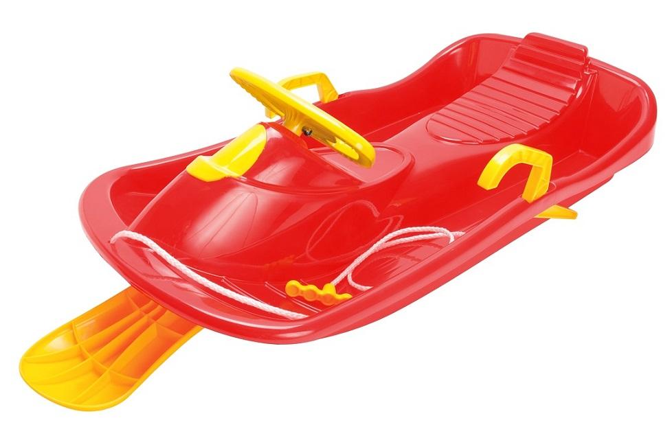 Bob plastový s volantem, červený DANTOY