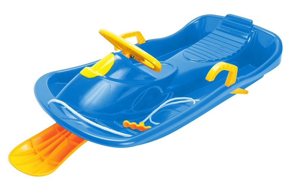 Bob plastový s volantem, modrý DANTOY