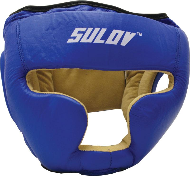 Chránič hlavy uzavřený SULOV, kožený, vel. L, modrý