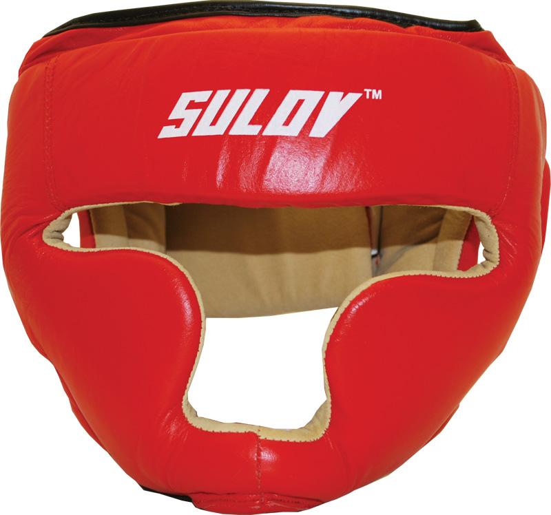 Chránič hlavy uzavřený SULOV, kožený, vel. L, červený