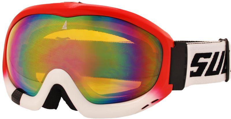 Zjazdové okuliare SULOV FREE, dvojsklo, červené