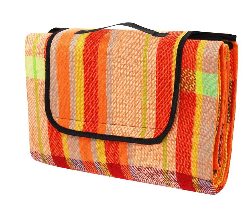 Pikniková deka CALTER RELAX, 170x150 cm, barevný proužek