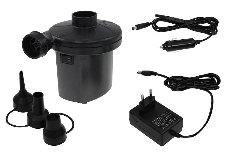 Elektrická pumpa na 12V/220V k nafukovací matraci