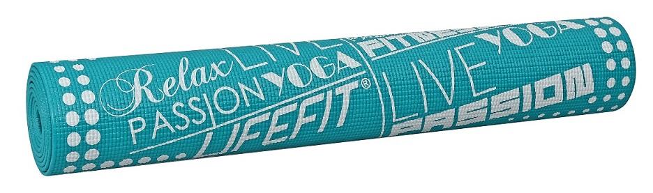 Gymnastická podložka LIFEFIT SLIMFIT, 173x61x0,4cm, tyrkysová