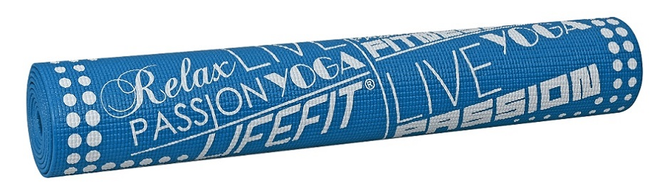 Gymnastická podložka LIFEFIT SLIMFIT, 173x61x0,4cm, modrá