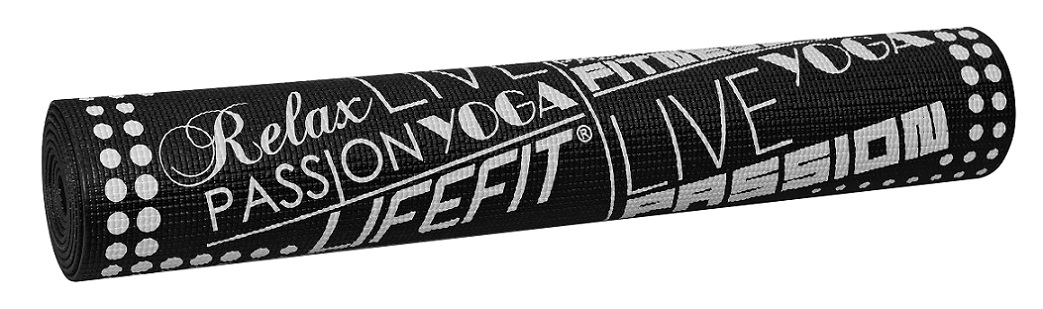 Gymnastická podložka LIFEFIT SLIMFIT, 173x61x0,4cm, černá
