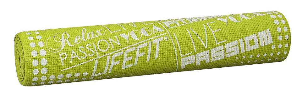 Gymnastická podložka LIFEFIT SLIMFIT PLUS, 173x61x0,6cm, světle zelená