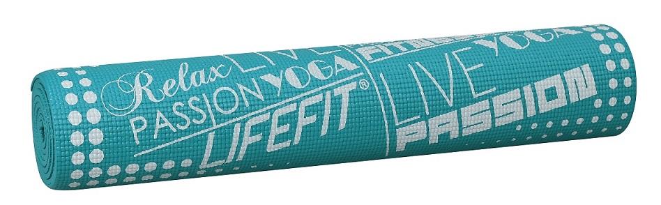 Gymnastická podložka LIFEFIT SLIMFIT PLUS, 173x61x0,6cm, tyrkysová