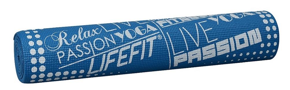 Gymnastická podložka LIFEFIT SLIMFIT PLUS, 173x61x0,6cm, modrá