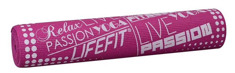 Gymnastická podložka LIFEFIT SLIMFIT PLUS, 173x61x0,6cm, bordó