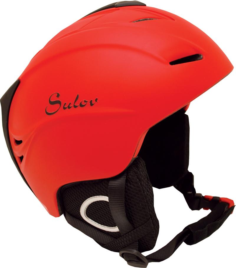 Lyžařská přilba SULOV SHINE In-mold, vel. L 59-60, červená lesk