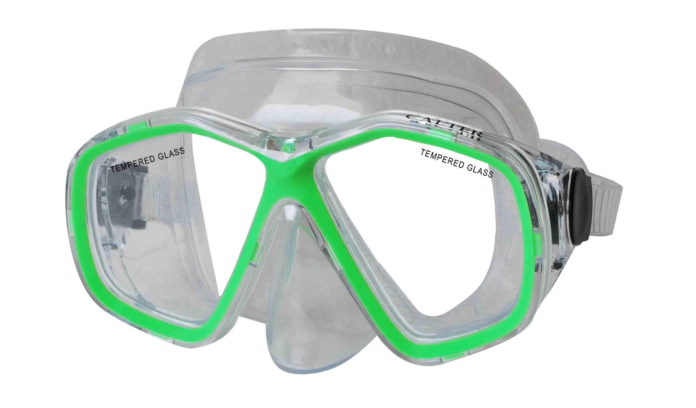 Potápěčská maska CALTER JUNIOR 276P, zelená