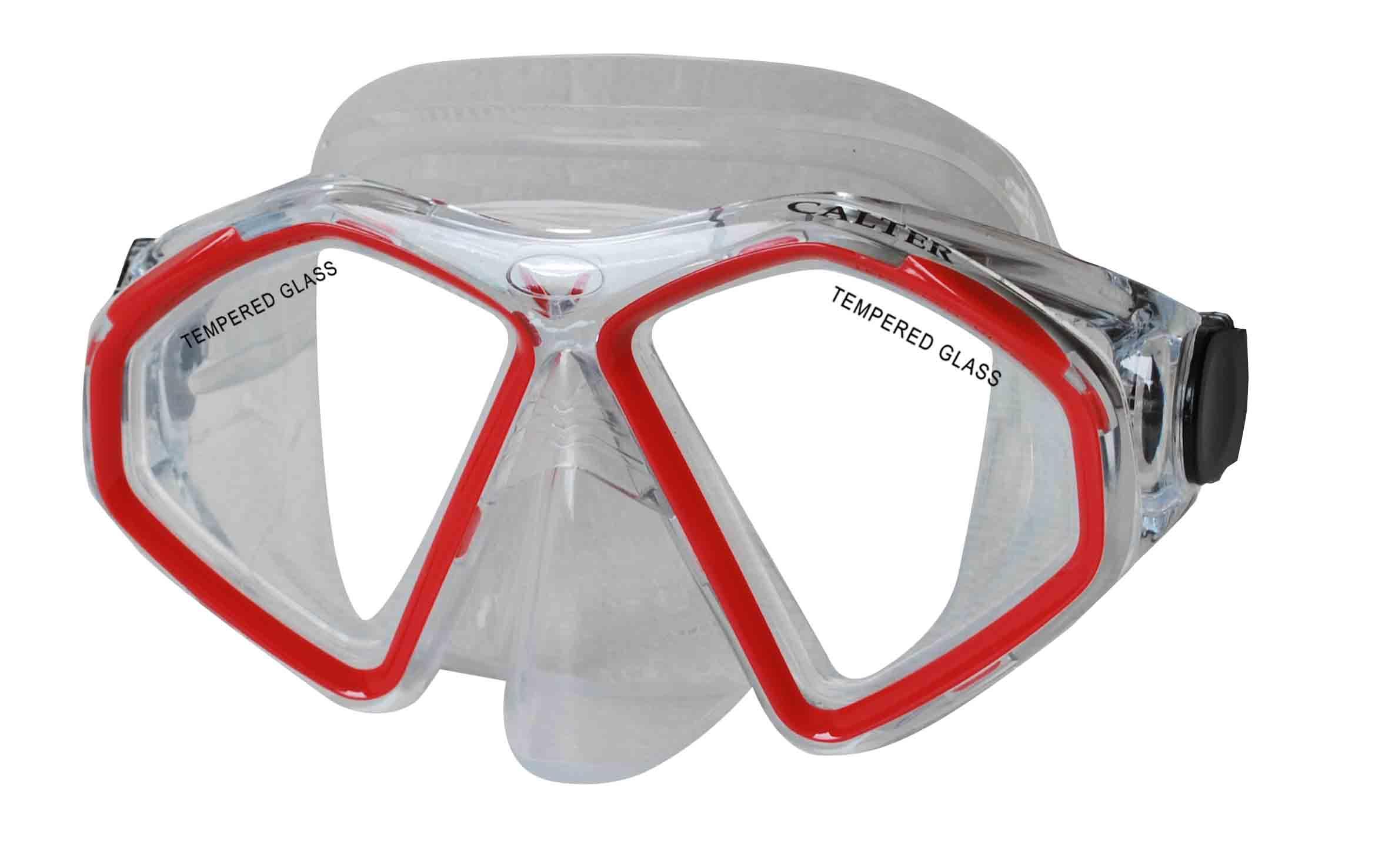 Potápěčská maska CALTER SENIOR 283S, červená