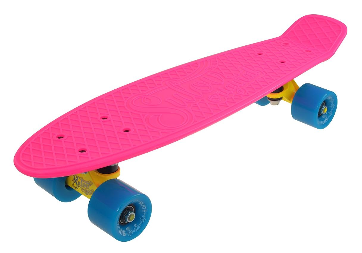 """Penny board 22"""" SULOV NEON SPEEDWAY růžovo-modrý"""
