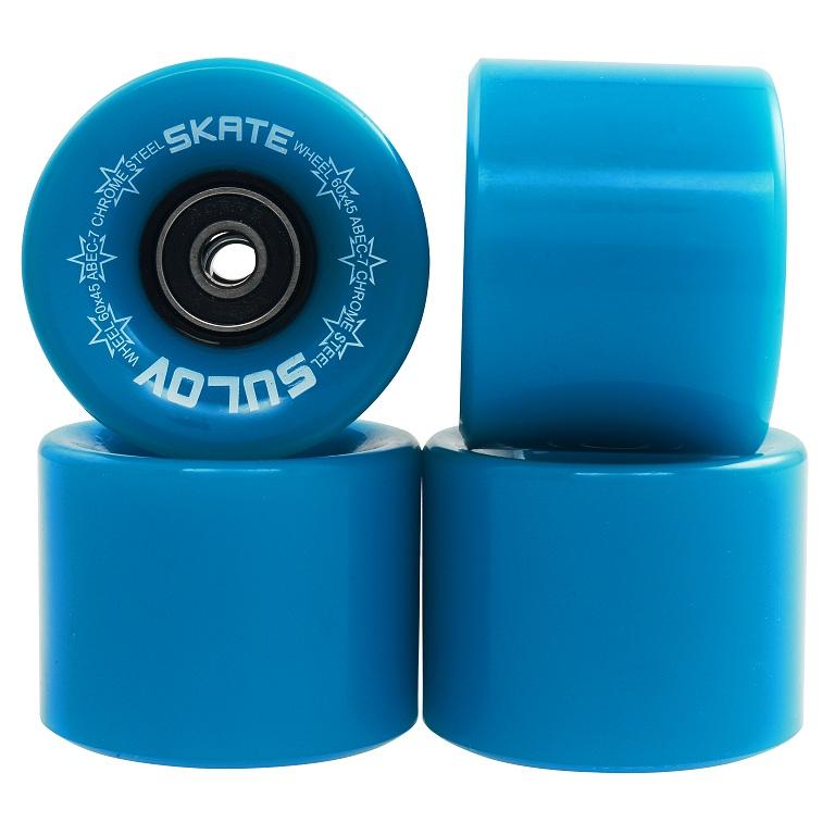 Kolečka Penny board NEON BLUE 60 x 45mm 85A, sada 4ks, s ložisky