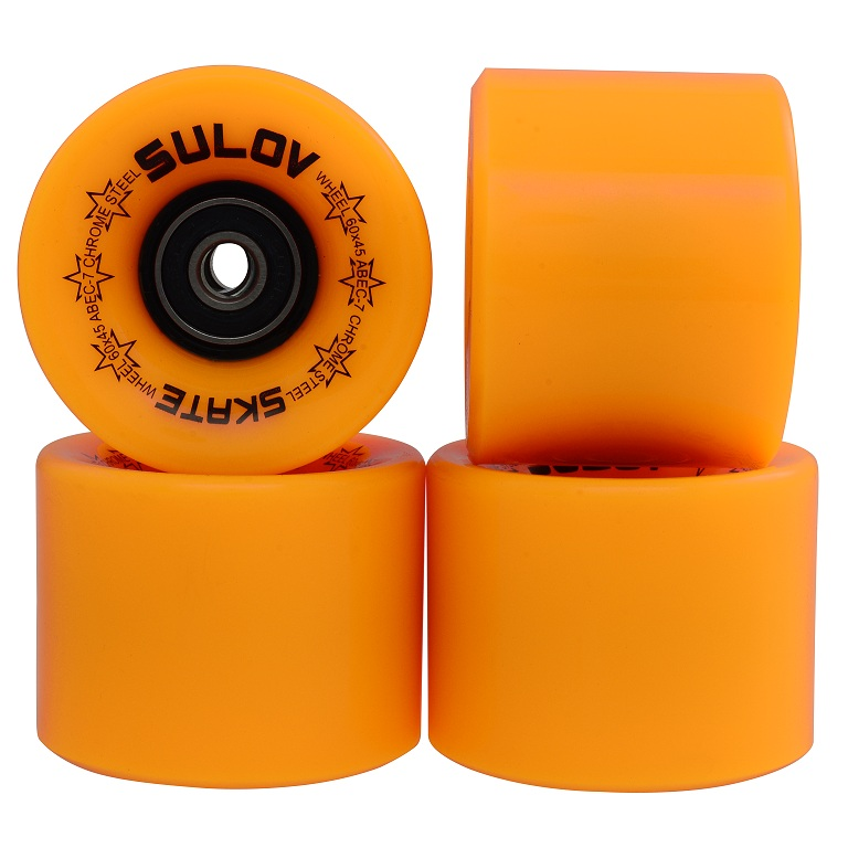 Kolečka Penny board MAT ORANGE 60 x 45mm 85A, sada 4ks, s ložisky