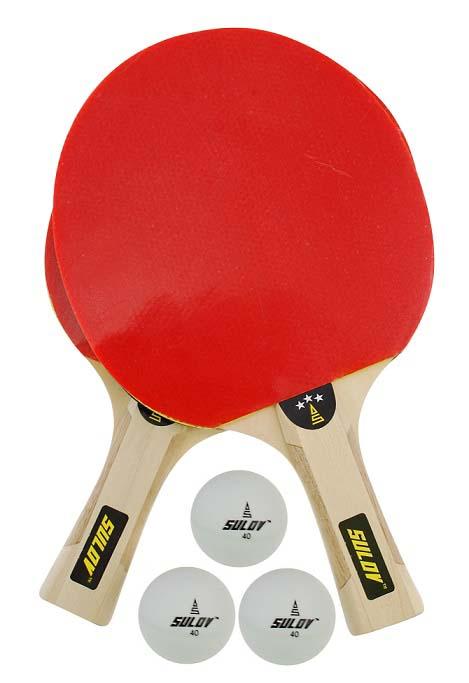 Set na pingpong SULOV 3ST-01, 2 x raketa, 3 x míč