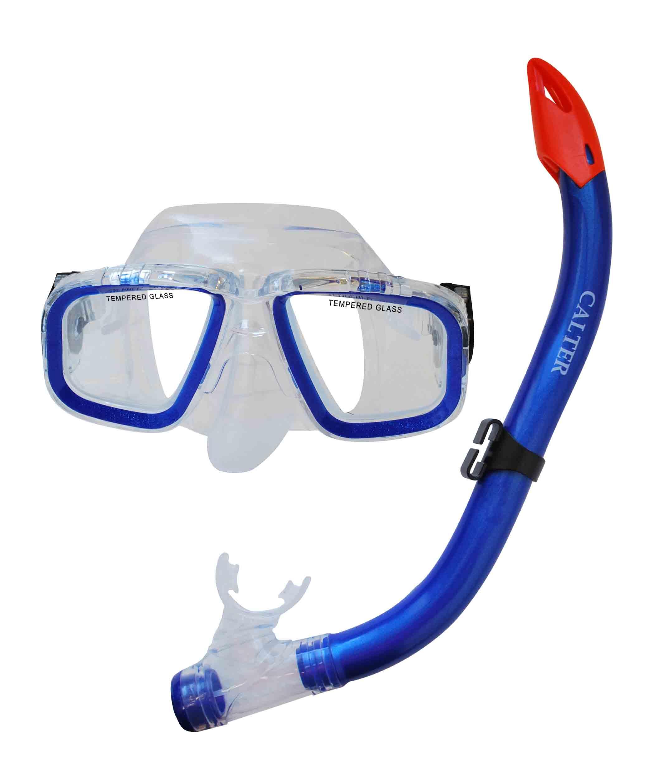 Potápěčský set CALTER JUNIOR S9301+M229 P+S, modrý