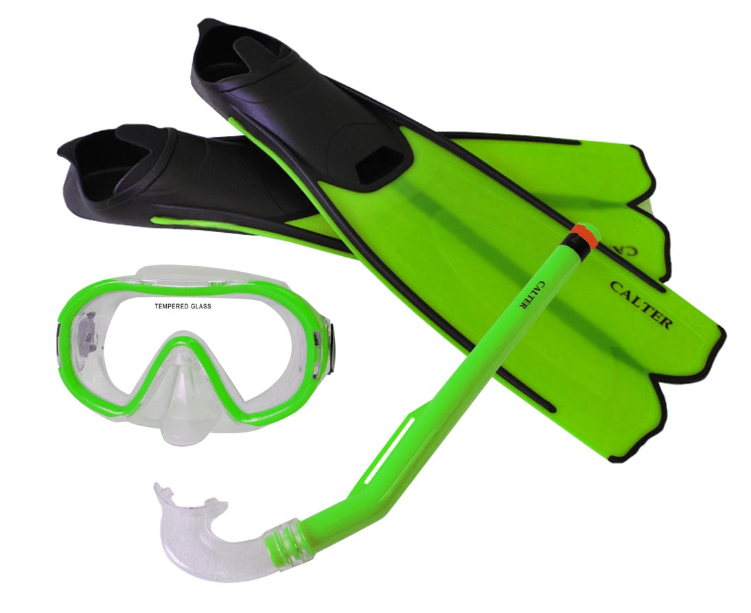 Potápěčský set CALTER KIDS S06+M168+F41 PVC, zelený