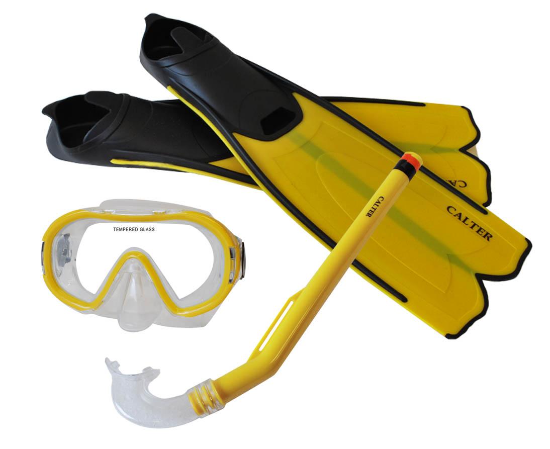 Potápěčský set CALTER KIDS S06+M168+F41 PVC, žlutý