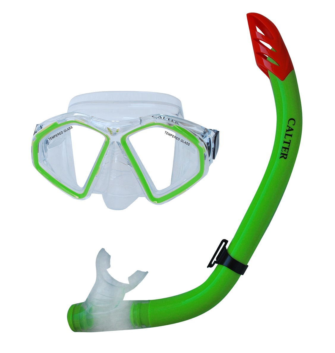 Potápěčský set CALTER SENIOR S09+M283 P+S, zelený