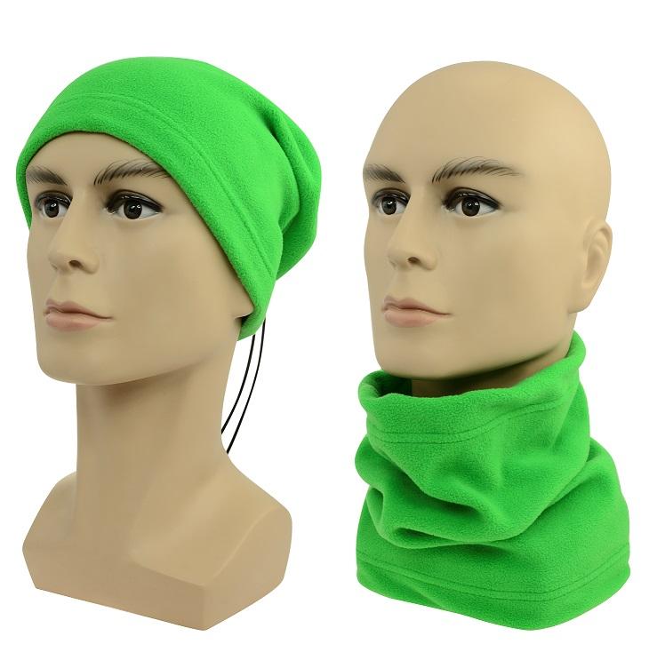 Multifunkční šátek 2v1 Fleece, zelený