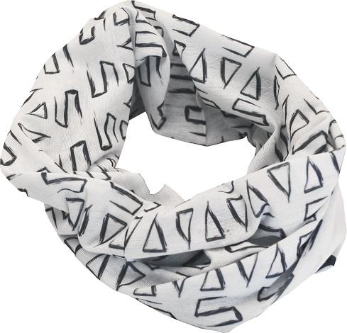 Sportovní šátek SULOV, bílo-černý