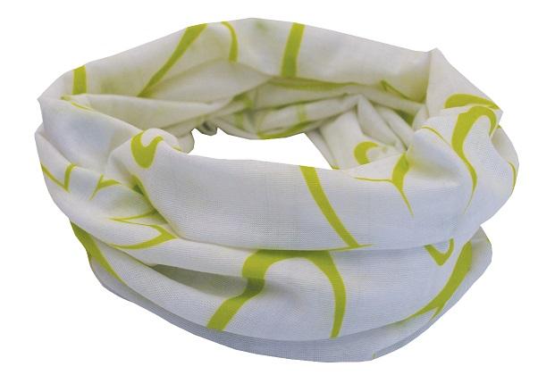 Sportovní šátek SULOV, bílo-zelený