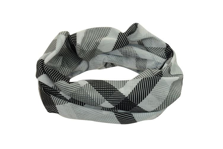 Sportovní šátek SULOV, šedo-černý