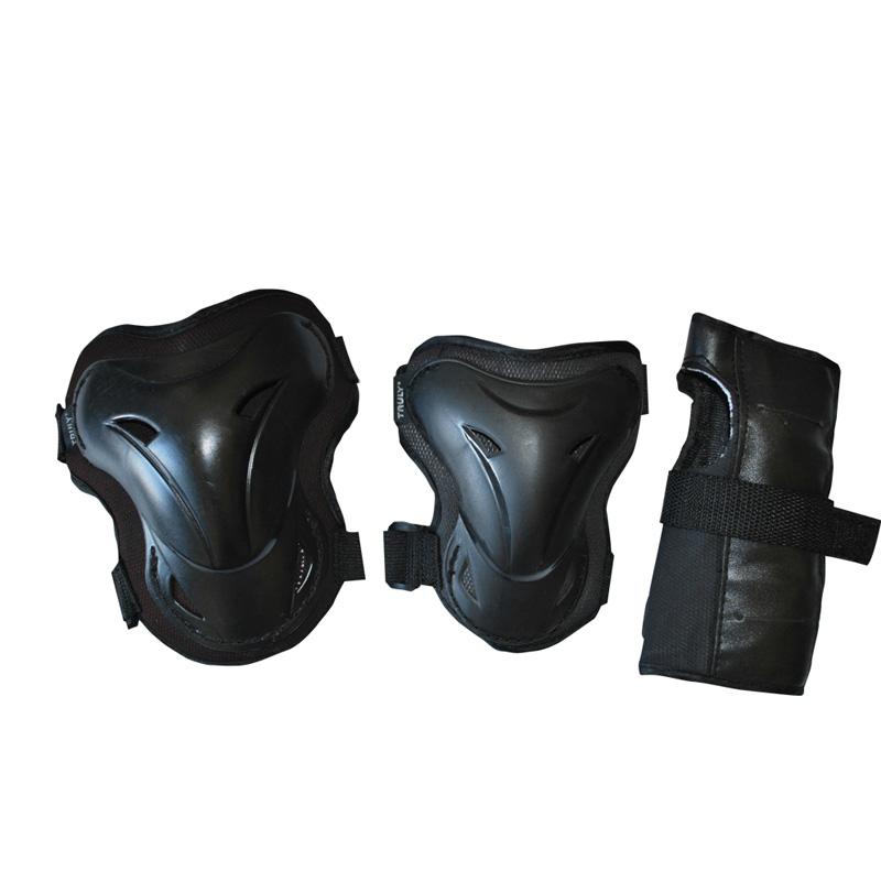 In-line chrániče TRULY SHELTER SET, černé, vel.L