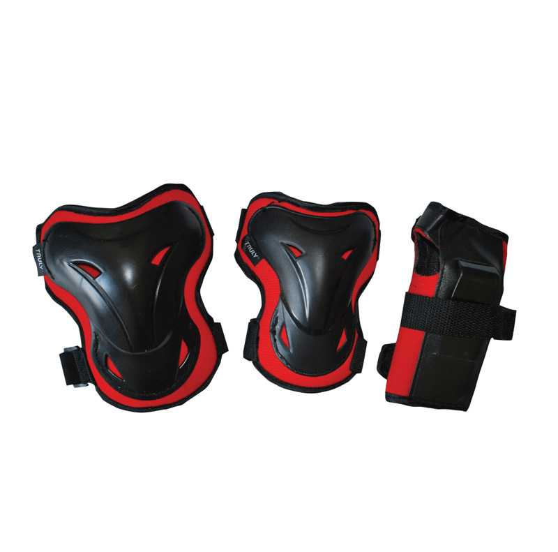 In-line chrániče TRULY SHELTER SET, červené, vel.L