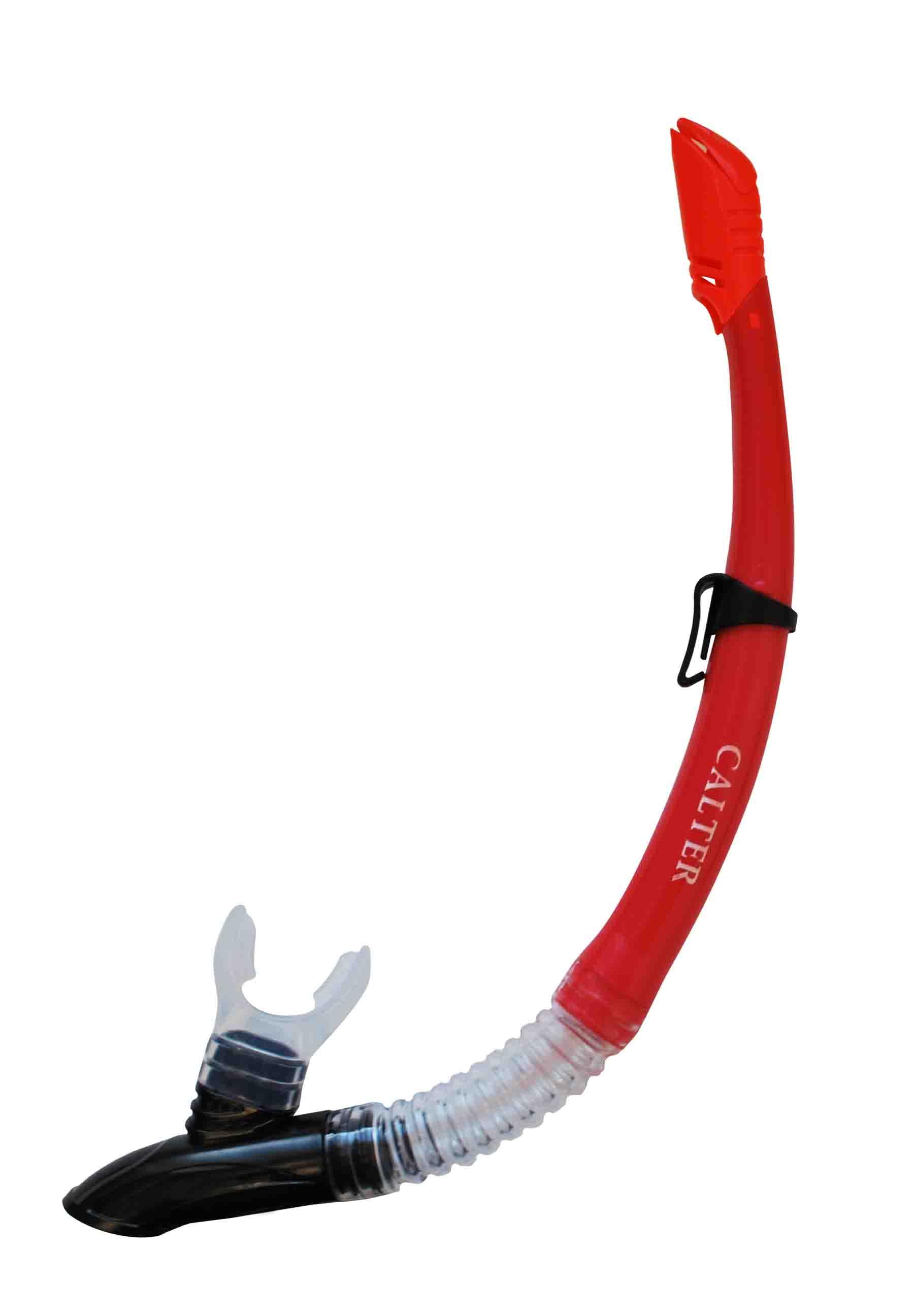 Šnorchl CALTER ADULT 63PVC-SILICON, červený