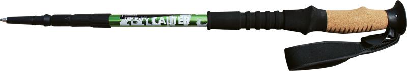 Trekingové hole CALTER VESUV, 4-dílné, 1ks, černo-zelené
